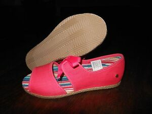 1511bee8f9d Details about NEW UGG ASHLEEN Espadrilles Sandals Shoes Size 4 US 34 EUR  Sunset Red