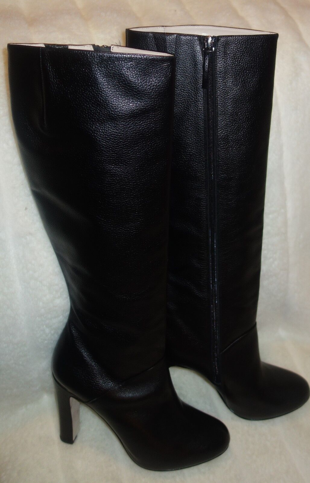 Lafenice venezia Black Leather Boots Knee High sz 8 new