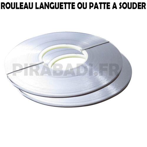 ROULEAU DE 1KG LANGUETTE OU PATTE A SOUDER POUR PILE ACCU 2x0.1mm BATTERIE