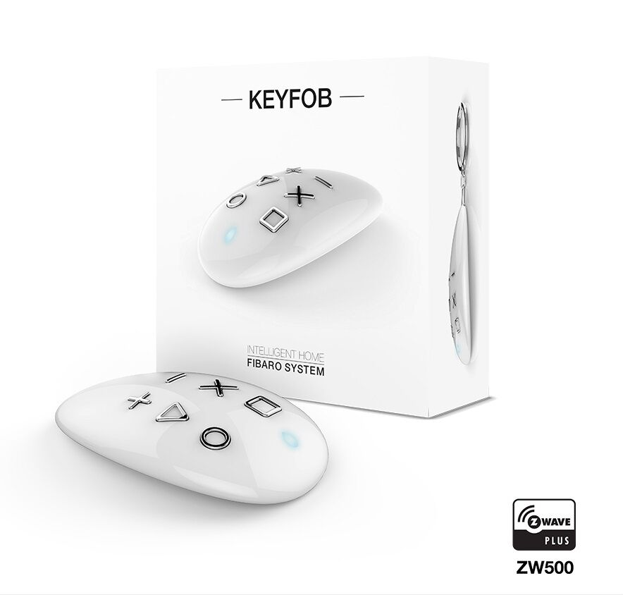 fibaro keyfob fgkf 601 z wave plus remote control keychain 5905279987562 ebay. Black Bedroom Furniture Sets. Home Design Ideas