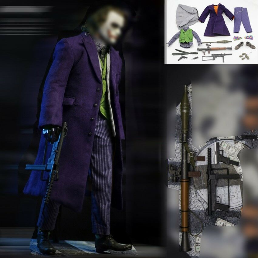 1//6 Scale 2019 DC Joker Red Suit Vest Pants Belt Shoes Clothing for 12/'/' Figure