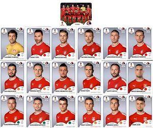 Sticker 73-91 Mannschaftspaket Ägypten Panini WM 2018 Russia Sticker