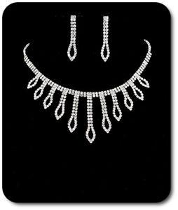Ausdrucksvoll Set Kette Ohrringe Halskette Schmuckset Srass Hochzeit Braut Metall SorgfäLtige Berechnung Und Strikte Budgetierung