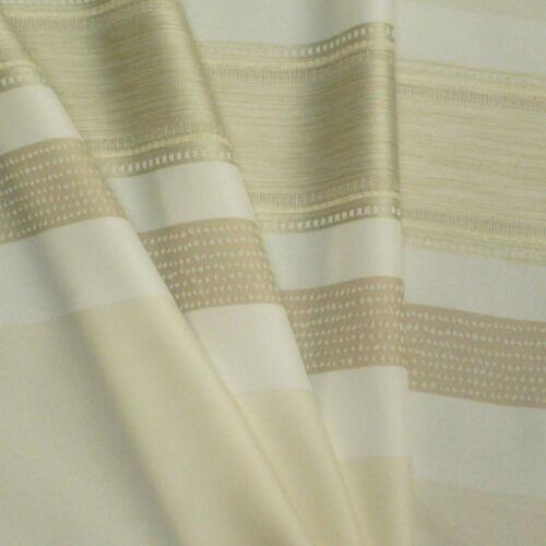 Gardinenstoff Meterware ELPASO Streifen weiß creme beige 1,50m Höhe