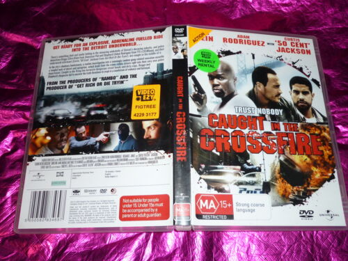 1 of 1 - CAUGHT IN THE CROSSFIRE : (DVD, MA15+) (EX RENTAL)