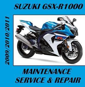 suzuki gsxr1000 gsxr 1000 service repair maintenance manual 2009 rh ebay com 2000 Gsxr 1000 1999 Gsxr 1000