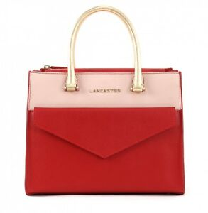 S Camélia Rouge Hand Bolso Bag Poudre Lancaster q5awI8xznT