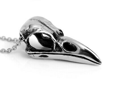Handmade Dove Pendant Bird Skull Jewelry in Pewter Mourning Dove Skull Necklace