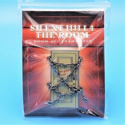 Silent Hill 4 The Room 302 Enamel Pin With Antiqued Chains 2