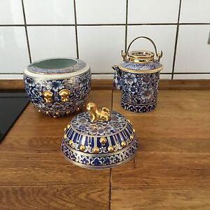 Porzellan-Raritaet-Teekanne-mit-warm-behalten-denke-Jahrgang-1930-50-kann-aelter