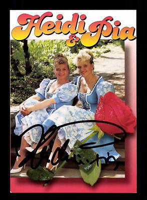 Ehrgeizig Heidi Und Pia Autogrammkarte Original Signiert ## Bc 103764 National