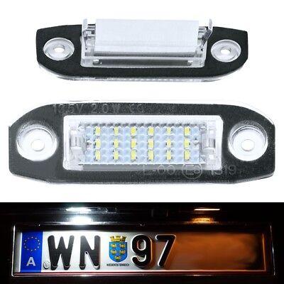2x LED KENNZEICHENLEUCHTE VOLVO S40 V50 S80 V70 XC60 XC70 KENNZEICHENBELEUCHTUNG