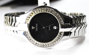 Croton-Quartz-Black-Dial-38mm-Crystal-Bezel-Not-Running-Wristwatch-Alter-Ego
