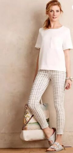 Gingham Jeans Grey Skinny Paige Leg Ankle New Verdugo In zTwaCq