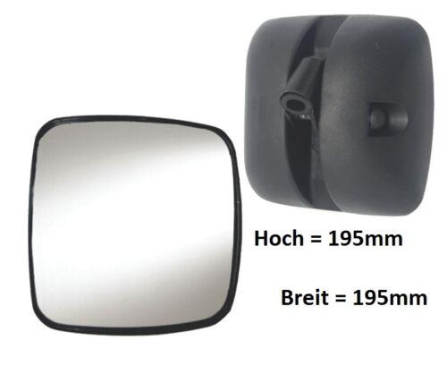 Trottoir Miroir complémentaire rétroviseur Scania Daf on VOLVO RENAULT 195x195ø18-28 r300