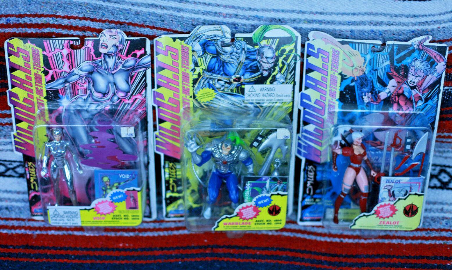 Lot of 3 WILDCATS Figures Jim Lee Playmates Zealot, Warblade, Void 90s 94-95 NIP