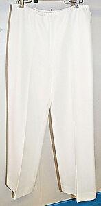 Vintage-White-Polyester-Dress-Pants-Union-Made-Elastic-Waist-Size-Medium