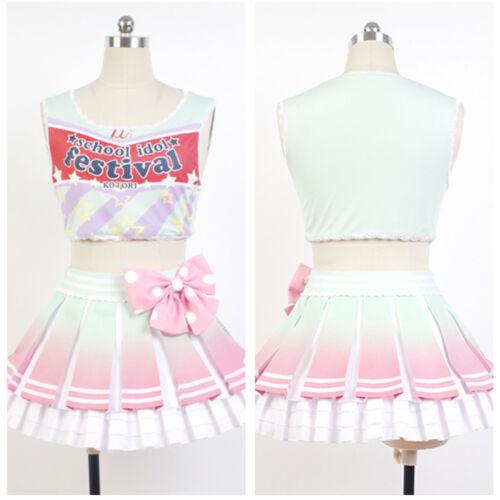 Unisex Love Live School Idol Project Minami Kotori Cheerleader Cosplay Costume Dress Clothing, Shoes & Accessories