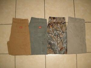 Lote De 4 Pantalones Dickies Trabajo Pantalones Wrangler Pato Lona Camuflaje Hombres 40 X 30 Ebay