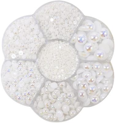 perlas planas decoracion para manualidades blancas para pegar decorado 5600pcs
