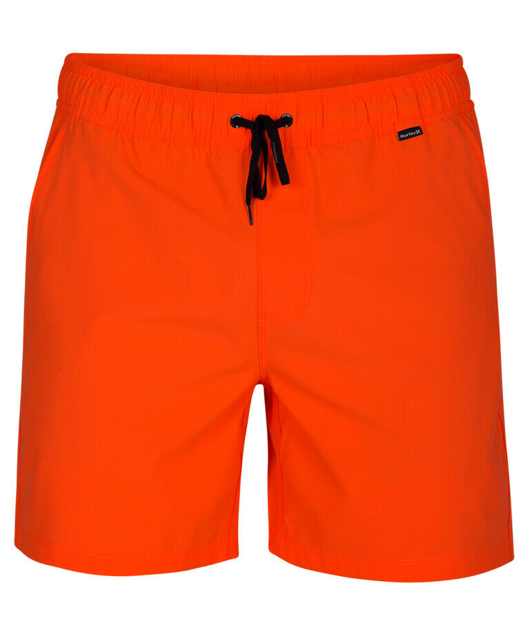 Hurley One & Only Volley 17' Elasticated Boardshorts in Hyper Crimson