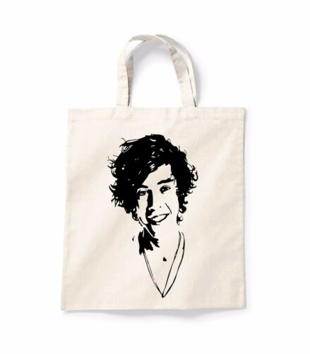 Harry Styles Face Quote Canvas Tote Shopping Bag Cotton Printed Shopper Bag Gift