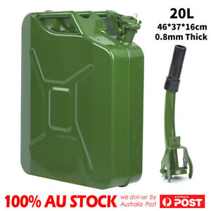 10L Metal Jerry Can Fuel Engine Diesel Petrol Oil Storage Container /& Spout,5//PK