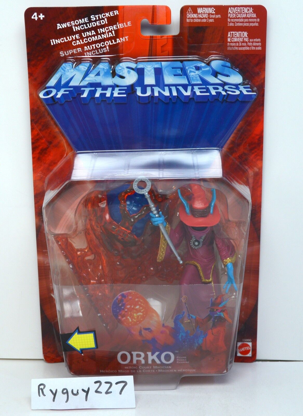 MOTU, Orko, Chase variant, 200x, Masters of the Universe, MOC, carded, sealed