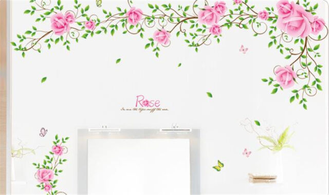 Rose flower Home Decor Removable Wall Sticker/Decal/Decoration