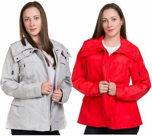 New-Ladies-casual-Jacket-Plain-Lining-Lightweight-Quality-outwear-Coat-8-16