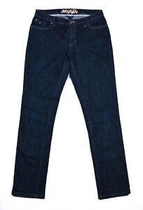 TOMMY-HILFIGER-donna-pantaloni-jeans-blu-denim-taglia-14-Made-in-Sri-Lanka