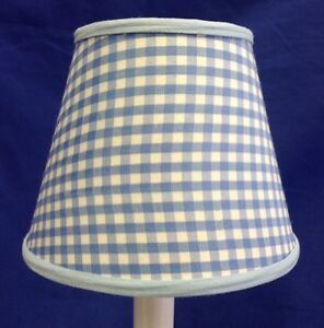 Baby blue white gingham check chandelier electric candle image is loading baby blue amp white gingham check chandelier electric aloadofball Image collections