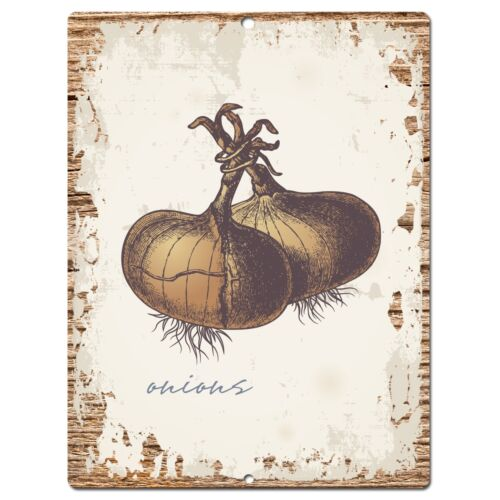 PP0862 ONIONS Parking Plate Chic Sign Home Kitchen Restaurant Cafe Decor Gift