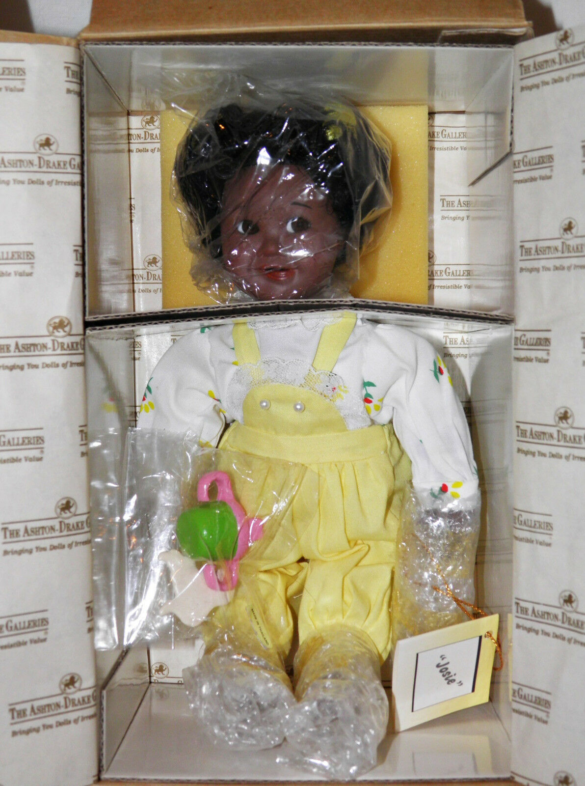1993 ASHTON DRAKE African American JOSIE Doll BABY GIRL Limited Edition MIB COA