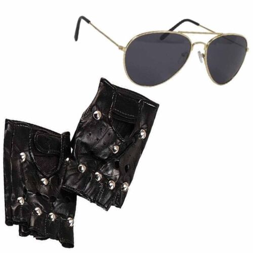 TWIN THIGH GUNS AND HOLSTER STUDDED GLOVES FANCY DRESS ACCESSORY ILM MOVIE