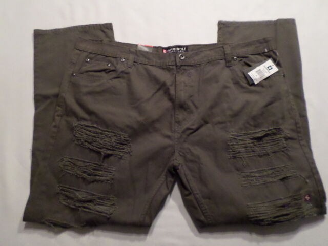 "*NWT* Mens South Pole Authentic Collection ""Slim Straight"" Jeans *sz 46* Olive"