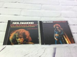 Neil-Diamond-Hot-August-Night-2-Disc-Package-CD-Set-1985-MCA-Records-RARE