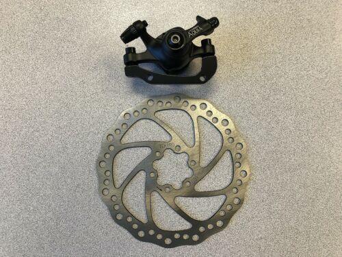 New Tektro Aquila Bike Mechanical Disc Brake w//Rotor 160mm Rear Black