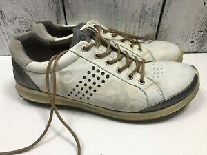 ECCO-Men-039-s-White-Golf-Shoes-Leather-Size-EU-46-US-12-12-5