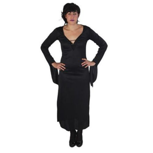 morticia robe mi longue manches longues deguisement costume halloween carnaval