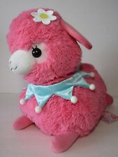 Lovely Baby Alpacasso Strawberry Dark Pink Alpaca Flower 40cm Plush Amuse Kawaii
