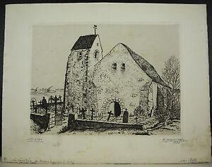 R-Jeannisson-Cemetery-of-Mouchamps-Engraving-Eau-Forte-1er-Condition-1936