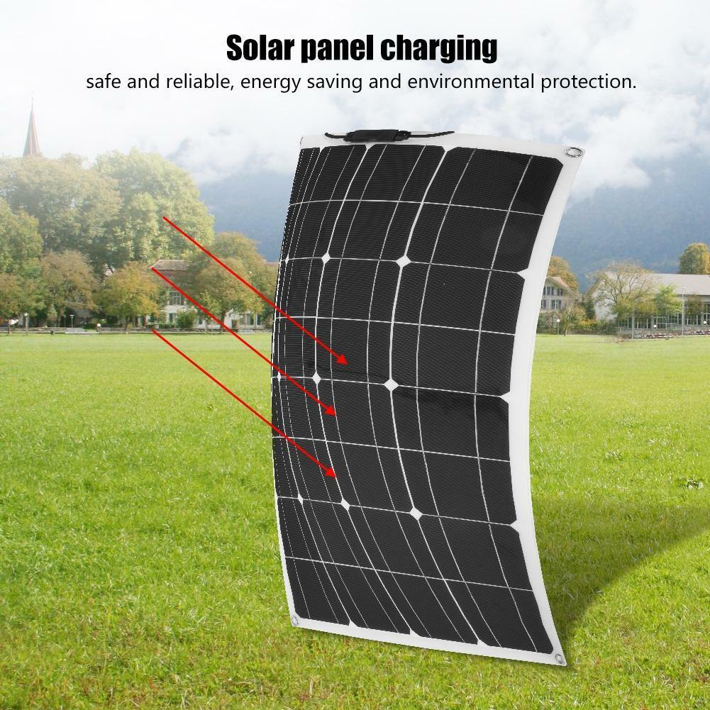 60W 18V Solarmodul Flexible Mini Solar Panel Sonnenkollektor Solarladegerät