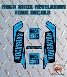 ROCK SHOX Revelation FORK Stickers Decals Mountain Bike Down Hill MTB white