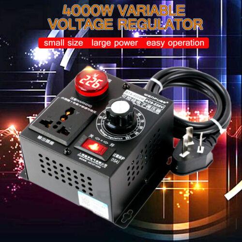4000W AC220V SCR Eletronic Variable Voltage Regulator Thyristor Speed  !