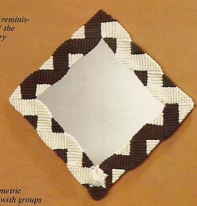 Retro Geometric Wall Mirror Pattern #HA56 Moods in Macrame 1970s Craft