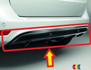 NEW GENUINE FORD B-MAX 13- REAR BUMPER LOWER BLACK DIFFUSER WITH PDC HOLES