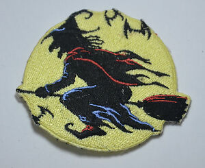 HALLOWEEN-WITCH-BROOMSTICK-Embroidered-Sew-Iron-On-Cloth-Patch-Badge-APPLIQUE
