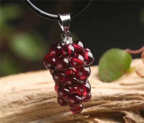 Natural Purple Garnet  Small Grapes Crystal Pendant AAA