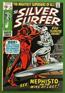 Silver-Surfer-16-FN-1970-Mephisto-Appearance-Buscema-1st-Print-Marvel-Comics